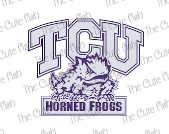 TCU Horned Frogs Logo Svg Dxf Eps Png Jpg Cdr Ai Cut Vector File Silhouette Cameo Cricut Design Vinyl Decal