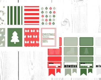 It's Christmas, weekly planner sticker kit