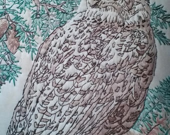 Vintage Needlework Owl