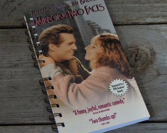 The Mirror Has Two Faces VHS Notebook /Grocery List / Notepad / Upcycled Notebook / Honey Do List / Sketch Pad / Thought Journal
