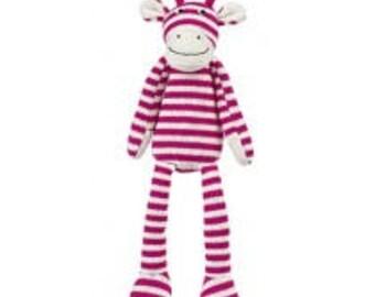 Pink Sock Giraffe Stuffed Animal