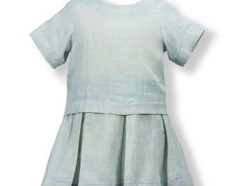 Blue Box Pleat Skirt & Top