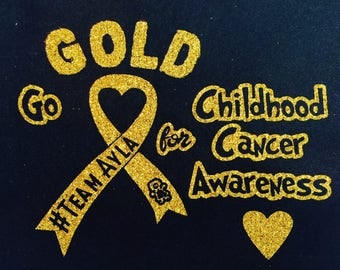 Personalized - Go Gold for Childhood Cancer Awareness T-Shirt