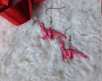 Pink Dino earrings