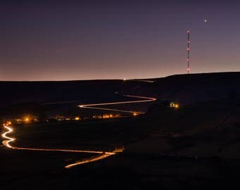 Nighttime on the Moss - A6 Postcard
