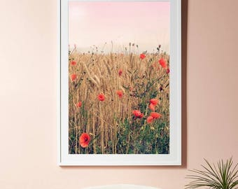 Exceptional Boho Flowers Print, Red Flowers Poster, Botanical Wall Art, Bohemian Wall  Art, Part 9