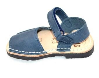 Blue slingback kids sandals