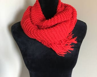 Drop stich knit scarf - long/extra long