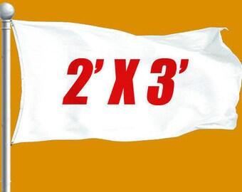 Cheap Custom Flag 2 x 3 - Free Shipping US