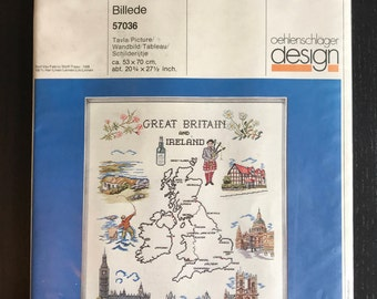 Great Britain and Ireland Cross Stitch Kit - Oehlenschlager  Design no. 57036