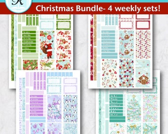 Passion Planner Stickers * Classic Sized Passion Planner * Printable Planner Stickers - CHRISTMAS BUNDLE - Digital Download