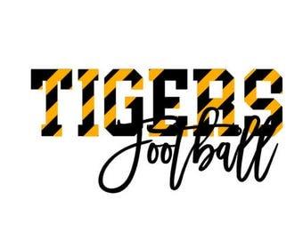 Tigers Football SVG