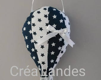 Hot air balloon nursery decor Driftwood mobile baby kid