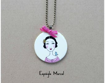 Necklace - Porcelain - Miss Peony necklace.