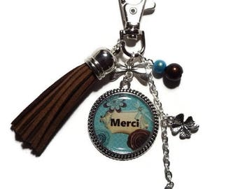 "Keychain / bag charm ""Merci"" / gift to say thank you"
