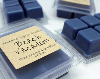 Beach Vacation Wax Melt | Handmade Wax Tart | Homemade Beach Vacation Gift | Scented Wax Tart | Sea Salt Scented Wax Melts | Beach Scent