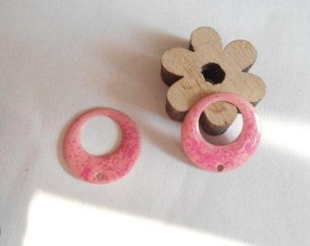 x 2 sequins pink speckled pink