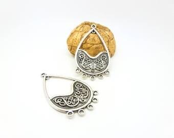 2 chandelier ethnic ornate 26 * 46 mm antique silver (SFBA18)