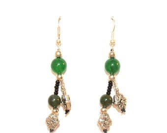 Earrings 925 sterling silver woman and gemstones Bohemian collection