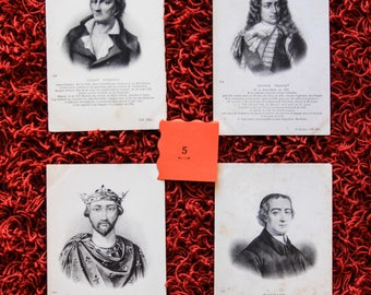 4 Pieces French Vintage Postcards / Early 1900s / French Etching postcard / Antique French Renaissance postcard / ND Phot.