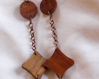 Rustic wooden long Necklace: Ygritte
