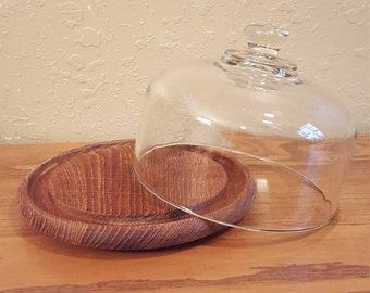 Vintage 1970's wood cheese server or cloche.  Goodwood cheese dome.