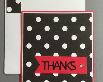 Thank You Card - Black and White
