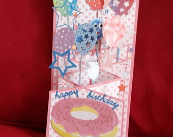 Birthday accordion card