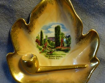 Vintage Butchart Gardens Ash Tray Victoria B. C. Manufactured in East Germany