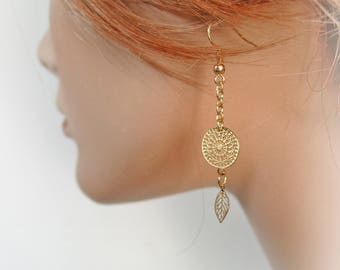 Fine gold earrings and chic ref: M038