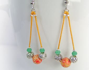 These exotic earrings Jasper and Crystal ref:m051