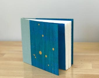Blue and Gold Handmade Hardcover Journal