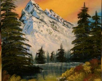 Mountain Scape Oil Painting