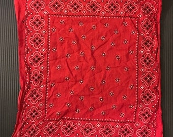 vintage red wash fast rag