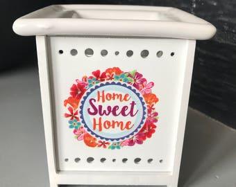 Ceramic burner and wood Home