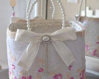 Beautiful shabby chic basket
