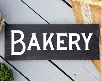 7x16 Bakery Sign - Bakery Decor - Kitchen Sign - Kitchen Decor - Farmhouse Decor - Fixerupper Sign - Rustic Kitchen Sign -Black Bakery Sign