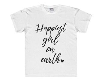 Happiest Girl on Earth - Youth & Kids T-Shirt for Disneyland / Disney World