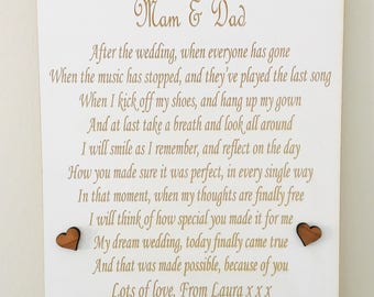 Personalised Wedding Poem Plaque
