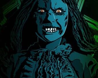 Limited Edition Regan Exorcist Horror Art Poster 12x18