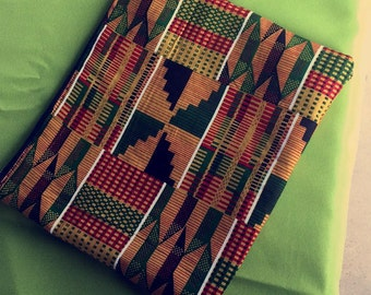 African kente clutch