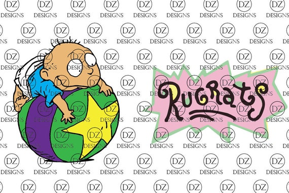 rugrats tommy pickles on ball and rugrats logo