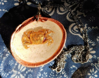 Golden Crab Necklace