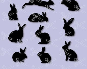 Rabbit SVG, PNG, DXF, Eps Cutting Files, Bunny Svg, Bunny Silhouette, Easter Bunny Svg, Svg Easter, Svg files, Bunny Logo, Easter Bunny Svg