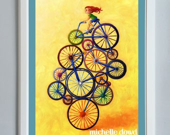 Fourteen Wheeler Bicycle Print