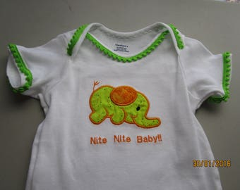 Bodysuit / Napping Baby Elephant