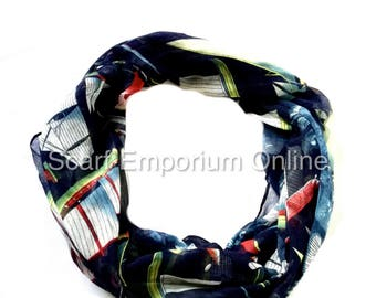 Sailing Boats  Blue scarf