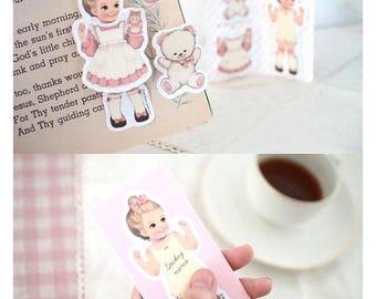 Julie Paper Doll Sticky Notes Vintage sticker