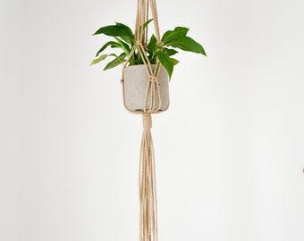 Jute plant hanger, support for plant, interior and exterior plant holder, macrame, modern plant hanger, plant carrier, modern plant hangers