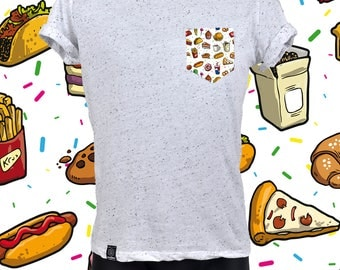 "POCKET TEE ""SPECKLED"" food"